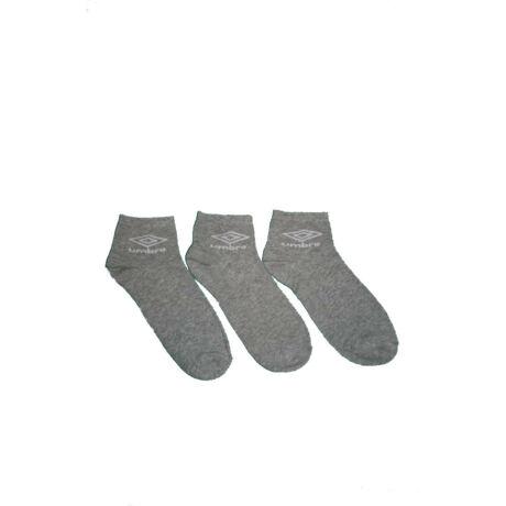 Unisex zokni - pamut rövid állású - szürke - Umbro