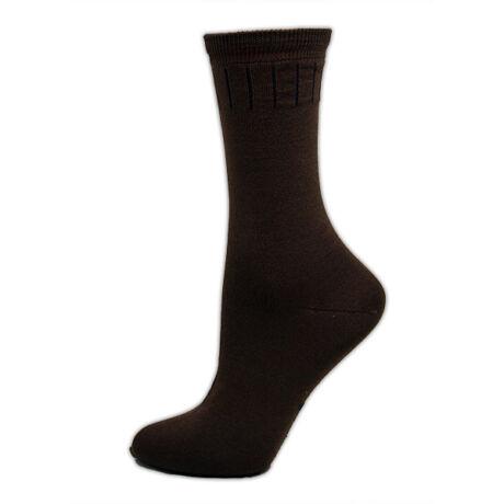 Férfi mercerizált zokni - pamut bokazokni - 39-42 - barna gumis szár - Evidence
