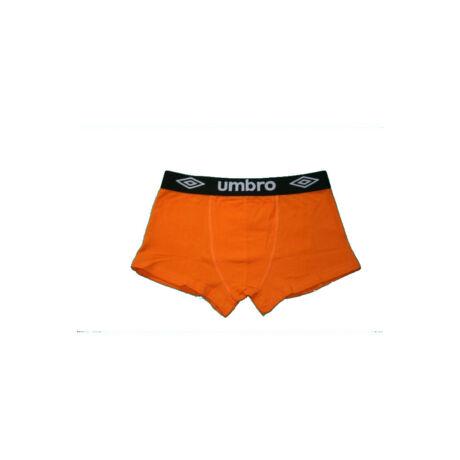 Férfi boxeralsó - pamut - S - narancssárga fekete derékgumival - Umbro