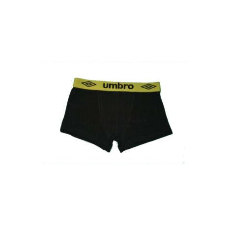 Férfi boxeralsó - pamut - XL - fekete zöld derékgumival - Umbro