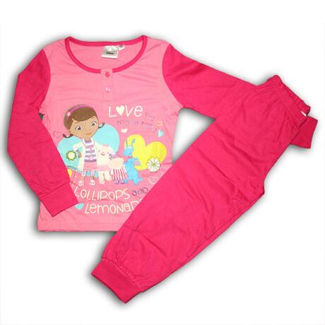 Dr Plüssi gyerek pizsama – pamut pizsama – rózsaszín – 104